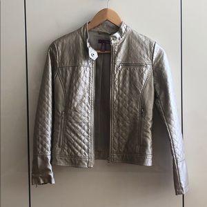 Youth Metallic Look Bomber Jacket